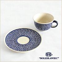 [Boleslawiec/ボレスワヴィエツ陶器]カップ&ソーサー-120