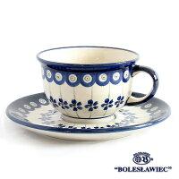 [Boleslawiec/ボレスワヴィエツ陶器]カップ&ソーサー-166