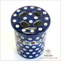 [REDECKER/レデッカー]陶器の歯ブラシスタンド/ブルーパターン