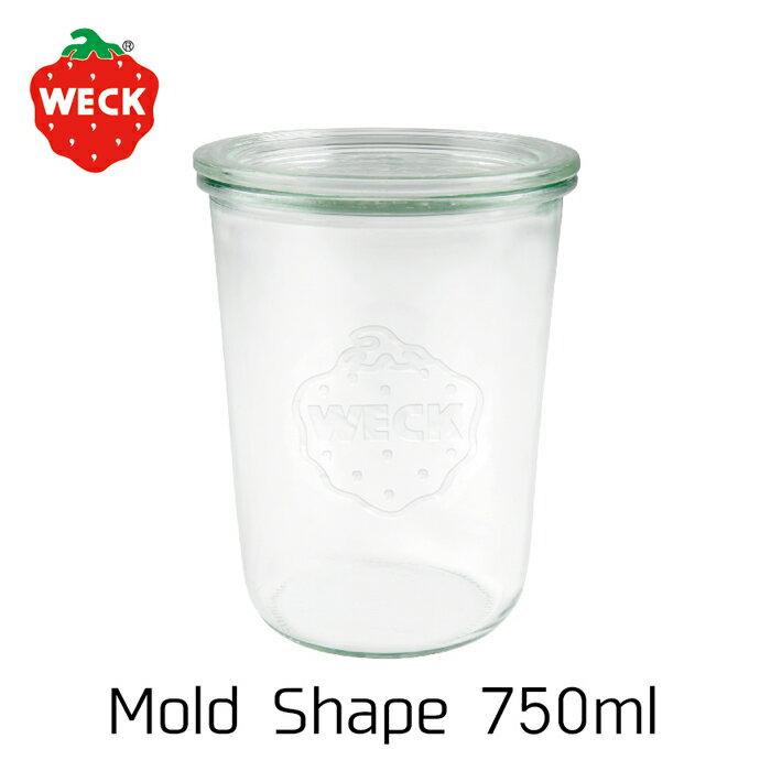 WECK Mold Shape 750ml【ウェック ガラス 瓶 蓋 ボトル イチゴ 小物入れ 料理 保存容器 キャニスター おしゃれ 保存瓶 耐熱 ガラス瓶 フタ ギフト セット プレゼント】