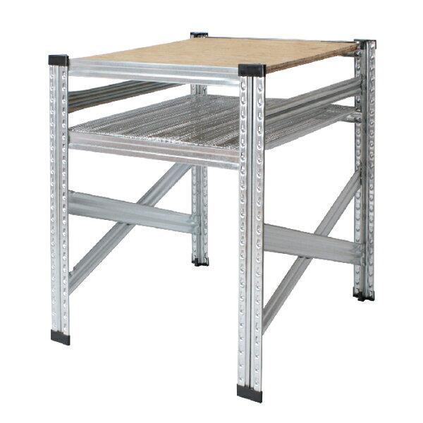 メタルシステムテーブル(OSB+パンチング) METALSISTEM金属テーブルスチールテーブルデスク2人用1人用インダストリア