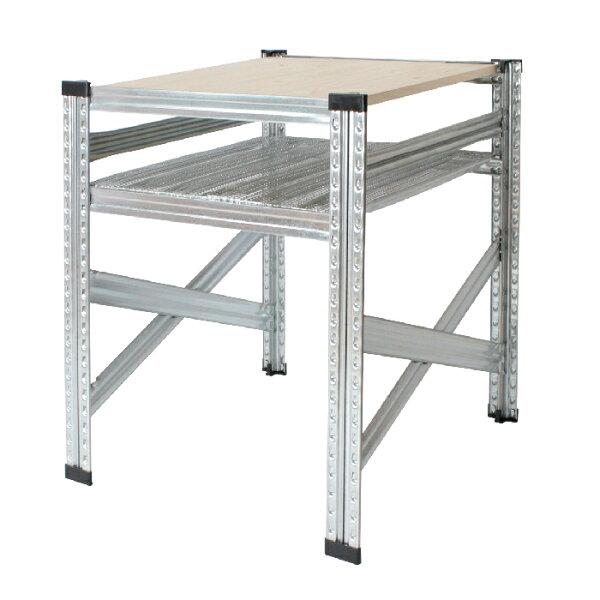 メタルシステムテーブル(集成材+パンチング) METALSISTEM金属テーブルスチールテーブルデスク2人用1人用インダストリア
