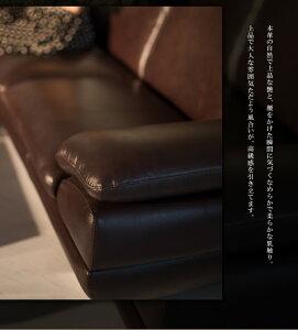 【搬入から組立て・設置まで無料サービス!】本革ブラウン3人掛けソファー3P革張りオイルレザーダークブラウンアンティーク高級牛革ステンレス脚送料無料レザーフロアソファー大きいワイド柔らかい柔らかめアーベント