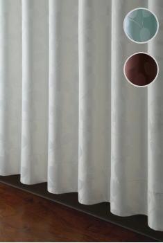 102サイズカーテン(D-0109)幅130・150x丈155-194cm 1枚【ナチュラル 北欧 1級遮光 寝室 リビング シック モダン リーフ柄】