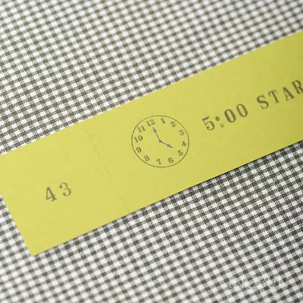 スタンプ 時計 水縞 S