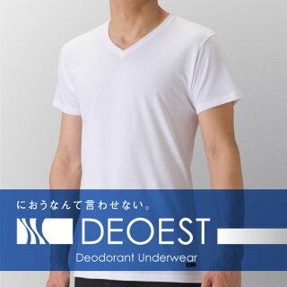 【DEOEST/デオエスト】消臭アンダーシャツ(V首)ホワイト