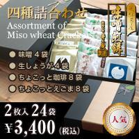 【新商品】味噌煎餅四種詰合わせ合計48枚入り