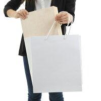 引き出物紙袋マチ広高級マットホワイトW-3001セット50枚300X250X350|ブライダルバッグラッピング結婚式引出物引き出物袋プレゼント用ペーパーバッグペーパーバック手さげ紙袋内祝いギフトバッグ白無地特大大きい結婚式用紙袋プレゼント袋