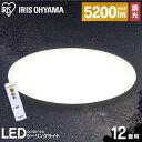シーリングライト おしゃれ 12畳 CL12D-5.0送料無料 LED リモコン付 リモコン 照明 天井 LEDシーリングライト LED照明 天井照明 照明器具 明るい 調光 LED シーリング ライト 電気 リビング アイリスオーヤマ・・・