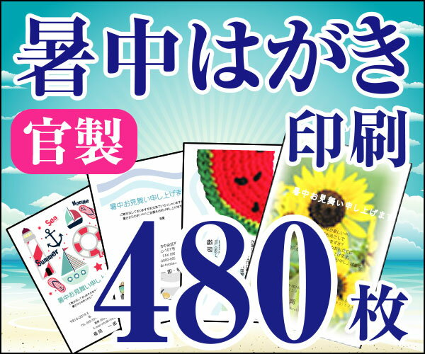 【暑中はがき印刷】【480枚】【かもめーる】【フルカラー】【レターパック360無料】:印刷広場