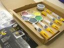 PopCornゆび筆の基本的な用具が揃っています。PopCorn ゆび筆基本セットPizza Box