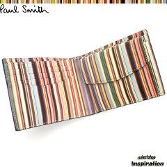 ポールスミス(Paul Smith)財布 二つ折り財布〈黒(内:マルチ)〉(psa260-17)ブラック メンズ