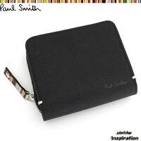 ポールスミス(PaulSmith)財布二つ折り財布〈黒〉(psk864-10)ブラックメンズ【2点以上お買上げで送料無料】[ブランドの通販]2012セール%off特価ポイント
