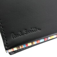 ポールスミス(PaulSmith)財布二つ折り財布〈黒〉(psu055-10)ブラックメンズ
