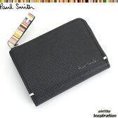 ポールスミス Paul Smith 財布 小銭入れ コインケース パスケース付き 黒 psk862-10 ブラック メンズ 紳士