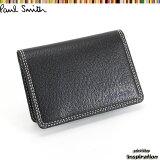 <クーポン配布中>ポールスミス Paul Smith パスケース 定期入れ カードケース 黒 psp615-10 ブラック メンズ 紳士