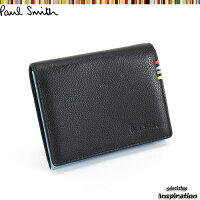 ポールスミスPaulSmith財布小銭入れコインケース黒psu001-10ブラックメンズ紳士