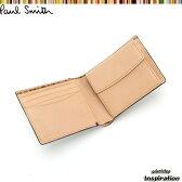 ポールスミス 財布 二つ折り財布 黒 Paul Smith psu874-10 ブランド メンズ 紳士