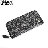 展示品箱なし ヴィヴィアンウエストウッド 財布 長財布 ラウンドファスナー Vivienne Westwood 財布 黒 3118m211 レディース 婦人
