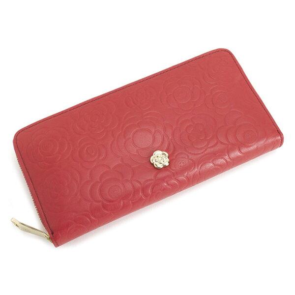 <クーポン配布中>訳あり展示品箱なしクレイサス財布長財布ラウンドファスナー赤系CLATHAS185551-30bレディース婦人
