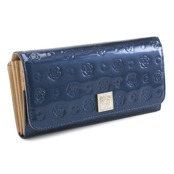 <クーポン配布中>クレイサス財布長財布がま口財布紺(ネイビー)CLATHAS182260-84レディース婦人