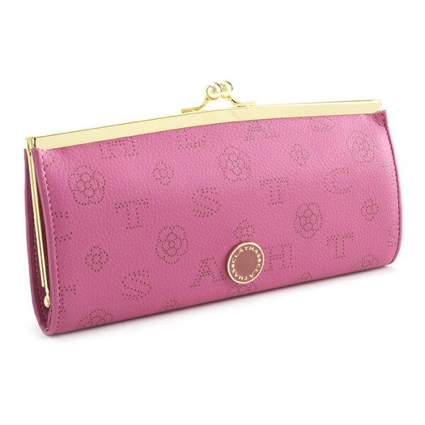 <クーポン配布中>展示品箱なしクレイサス財布長財布がま口長財布ピンクCLATHAS186881-32レディース婦人