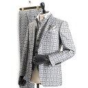 <クーポン配布中>ティノラス スーツ スリーピース TENORAS 灰(グレー) te6064 メンズ 紳士