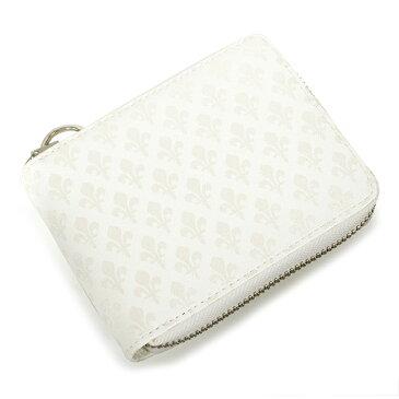 展示品箱なし パトリックコックス 財布 二つ折り財布 ラウンドファスナー 白(ホワイト) PATRICK COX pxmw9er1-00 メンズ 紳士