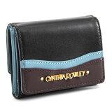 <クーポン配布中>シンシアローリー 財布 三つ折り財布 黒(ブラック) CYNTHIA ROWLEY crp092-10 レディース 婦人