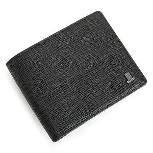 <クーポン配布中>展示品箱なし ランバンコレクション 財布 二つ折り財布 黒(ブラック) LANVIN collection jlmw6ps2-10 メンズ 紳士