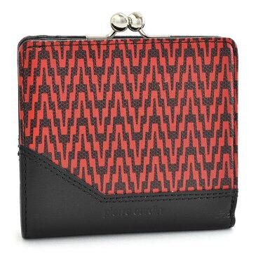 <クーポン配布中>展示品箱なし ピエールカルダン 財布 二つ折り財布 がま口財布 赤(レッド) Pierre Cardin pcs850-20 レディース 婦人