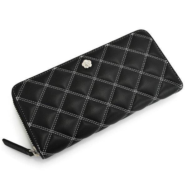 クレイサス財布長財布ラウンドファスナー黒(ブラック)CLATHAS188341-10レディース婦人