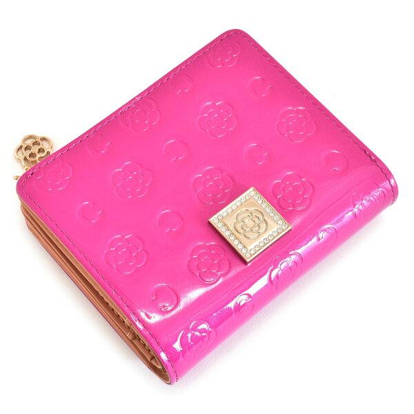 クレイサス財布二つ折り財布L字ファスナーマゼンダCLATHAS187923-97レディース婦人