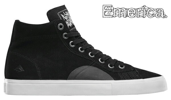 【Emerica×FUNERAL FRENCH】INIDCATOR HIGH カラー:black 【エメリカ】【スケートボード】【シューズ】