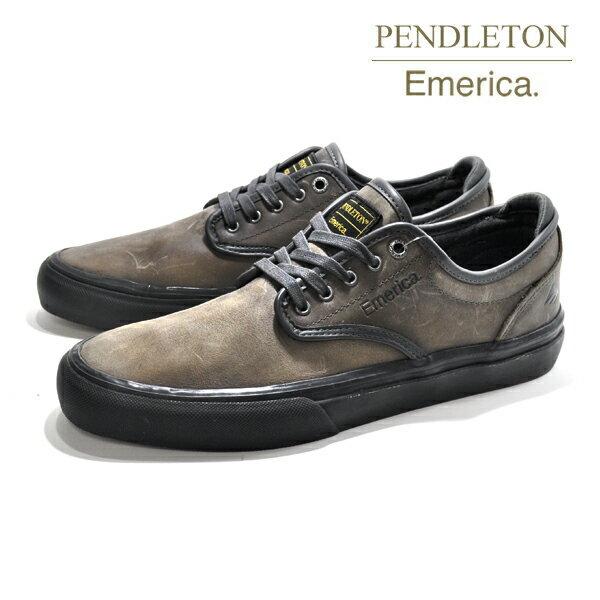 【Emerica×PENDLETON】WINO G6 カラー:dark grey/black 【エメリカ】【スケートボード】【シューズ】【ラスト一足 26.5cm】