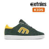 【Etnies】KIDS CALLI-CUT カラー:green/white/yellow エトニーズ キャリカット スケートボード スケボーシューズ 靴 スニーカー 子供 SKATEBOARD SHOES