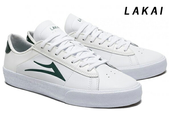 【LAKAI】NEWPORT カラー:white/pine leather 【ラカイ】【スケートボード】【シューズ】