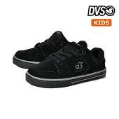 【DVS】KIDS EVERETT LO カラー:black ディーブイエス キッズ 子供 スケートボード スケボーシューズ 靴 スニーカー SKATEBOARD SHOES【17,5cm/18cm】