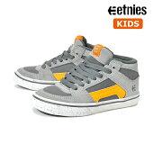 【ETNIES】KIDS RVM VULC カラー:grey/orange エトニーズ キッズ 子供 スケートボード スケボーシューズ 靴 スニーカー SKATEBOARD SHOES【ラスト一足 18cm】