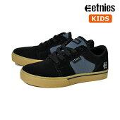 【ETNIES】KIDS BARGE LS カラー:black/blue エトニーズ バージ キッズ 子供 スケートボード スケボーシューズ 靴 スニーカー SKATEBOARD SHOES【19cm/23cm】