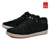 【es】ACCEL SLIM MID WADE カラー:black エス アクセル スリム ミッド スケートボード スケボーシューズ 靴 スニーカー SKATEBOARD SHOES【ラスト一足 29cm】