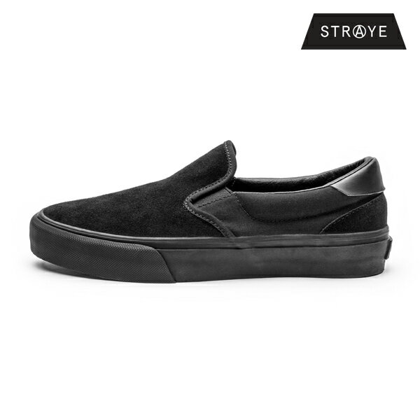【STRAYE】VENTURA カラー:black black suede 【ストレイ】【スケートボード】【シューズ】
