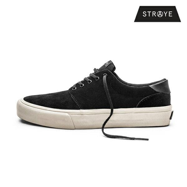 【STRAYE】FAIRFAX カラー:black bone suede 【ストレイ】【スケートボード】【シューズ】