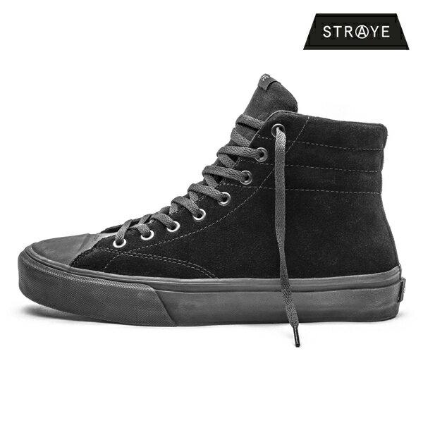【STRAYE】VENICE カラー:black black suede【ストレイ】【スケートボード】【シューズ】