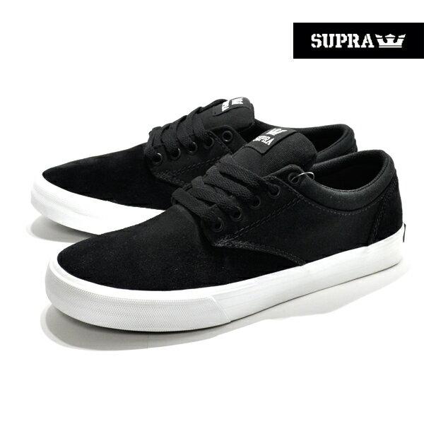 【SUPRA】CHINO カラー:black-white 08051-002 【スープラ】【スケートボード】【シューズ】【ラスト一足 26.5cm】