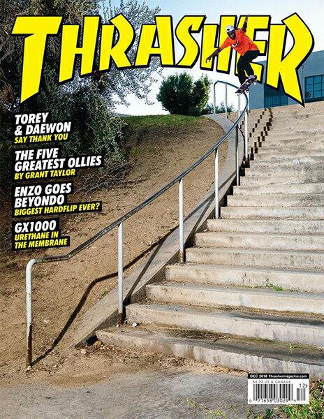 【THRASHER MAGAZINE】2018.12月号【スラッシャーマガジン】【スケートボード】【書籍/雑誌/マガジン】