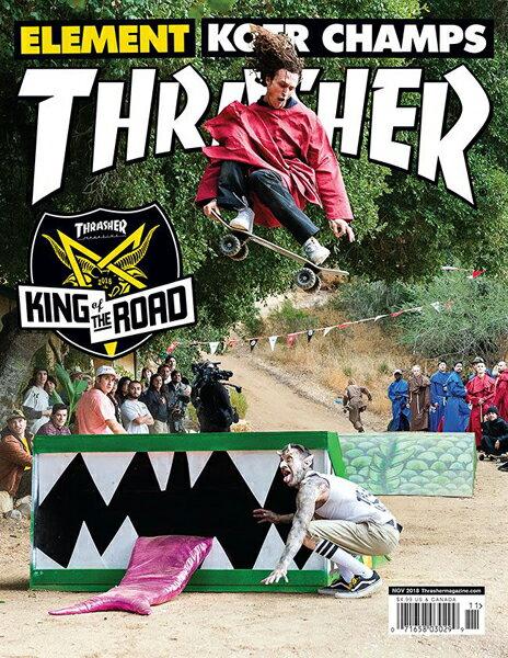【THRASHER MAGAZINE】2018.11月号【スラッシャーマガジン】【スケートボード】【書籍/雑誌/マガジン】
