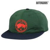 【BUTTER GOODS】PEAK 6PANEL CAP カラー:forest/navy 【ブターグッズ】【スケートボード】【キャップ/帽子】