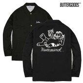 【BUTTER GOODS】NEVER MIND COACH JACKET カラー:black 【バターグッズ】【スケートボード】【ジャケット】