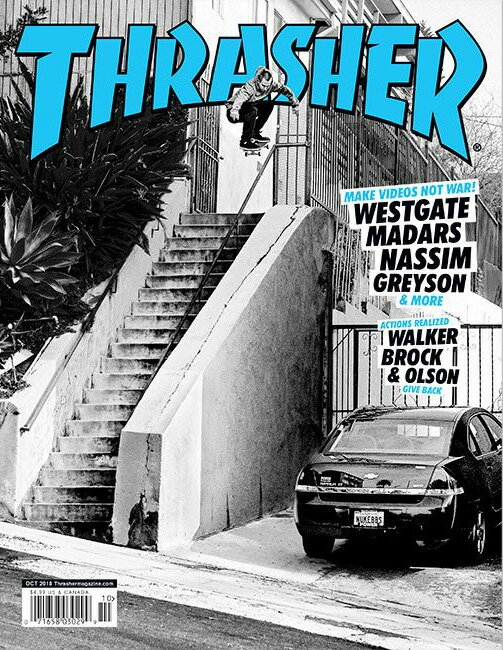 【THRASHER MAGAZINE】2018.10月号【スラッシャーマガジン】【スケートボード】【書籍/雑誌/マガジン】